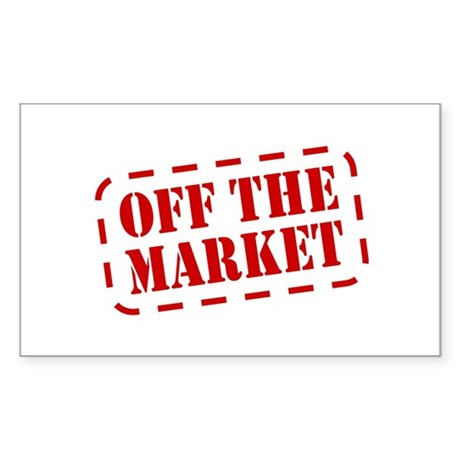Off the Market Rectangle Sticker