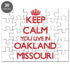 Keep calm you live in Oakland Missouri Puzzle