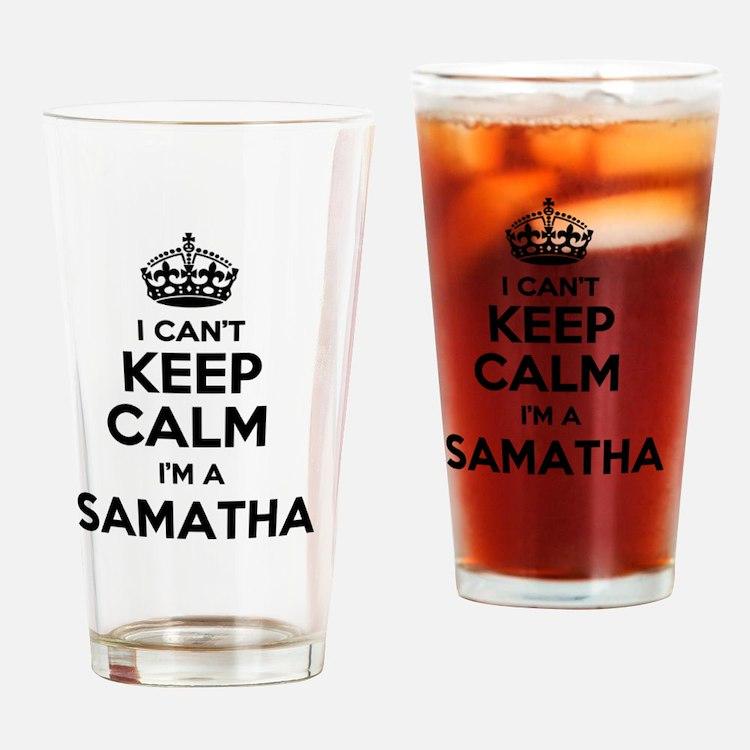 Cute Samatha Drinking Glass
