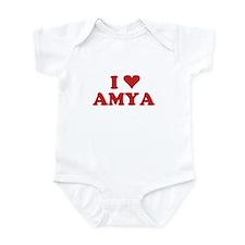 I LOVE AMYA Onesie