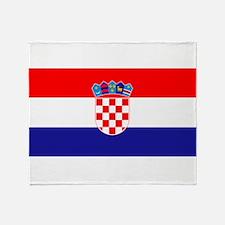 Croatian flag Throw Blanket