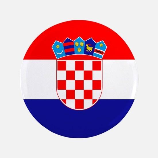"Croatian flag 3.5"" Button"