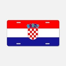 Croatian flag Aluminum License Plate