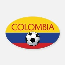 Colombia Soccer / Football Oval Car Magnet