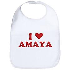 I LOVE AMAYA Bib