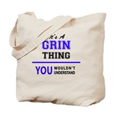 Funny Grinning Tote Bag