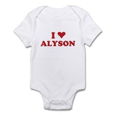 I LOVE ALYSON Infant Bodysuit