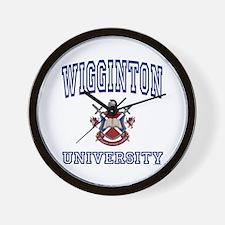 WIGGINTON University Wall Clock