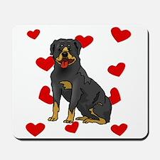 Rottweiler Love Mousepad
