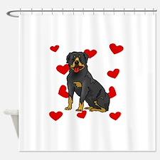 Rottweiler Love Shower Curtain
