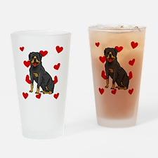 Rottweiler Love Drinking Glass