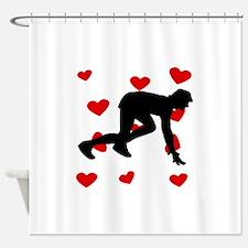 Runner Hearts Shower Curtain