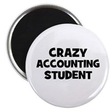 Crazy accounting Student Magnet