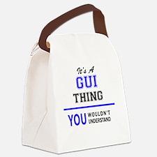 Cute Gui Canvas Lunch Bag