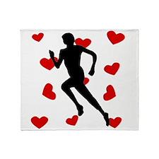 Runner Hearts Throw Blanket