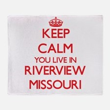 Keep calm you live in Riverview Miss Throw Blanket