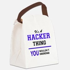 Funny Hacker Canvas Lunch Bag