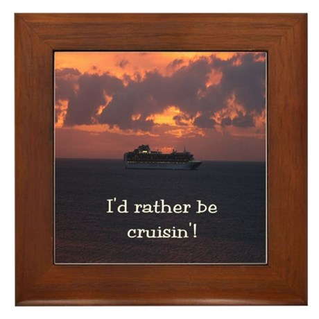 Rather Be Cruisin' Framed Tile