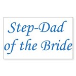 Step-Dad of the Bride Rectangle Sticker