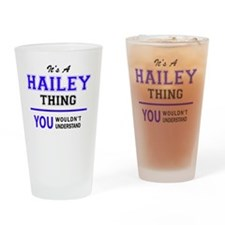 Funny Hailey Drinking Glass