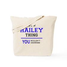 Funny Hailey Tote Bag