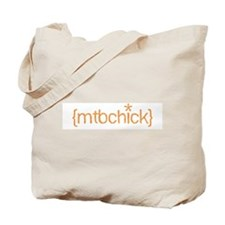 {mtbchick}:: tangerine Tote Bag