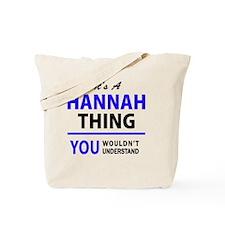Cute Hannah Tote Bag