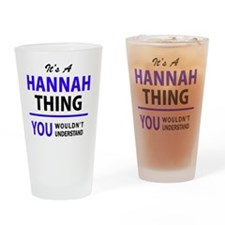 Cute Hannah Drinking Glass