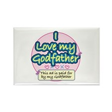Godfather - Pink Rectangle Magnet