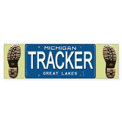 Michigan Tracker Bumper Bumper Sticker
