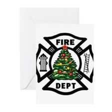 Cute Firefighter holiday Greeting Cards (Pk of 20)