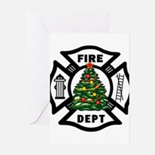 Funny Fire dept Greeting Cards (Pk of 20)