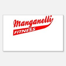Manganelli Fitness Rectangle Decal