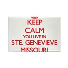 Keep calm you live in Ste. Genevieve Misso Magnets
