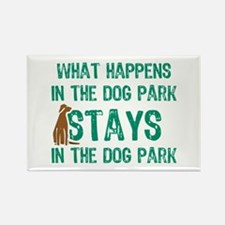 Stays In The Dog Park Rectangle Magnet