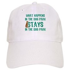 Stays In The Dog Park Baseball Cap