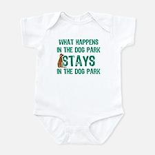 Stays In The Dog Park Infant Bodysuit