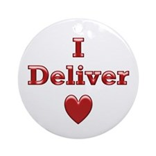 Deliver Love in This Ornament (Round)