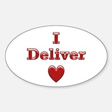 Deliver Love in This Oval Decal