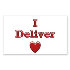 Deliver Love in This Rectangle Decal