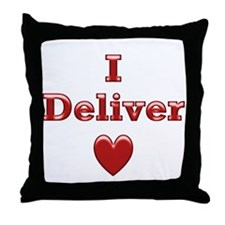 Deliver Love in This Throw Pillow