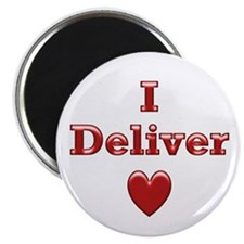"""Deliver Love in This 2.25"""" Magnet (100 pack)"""