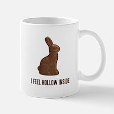 I Feel Hollow Inside Chocolate Easter Bunny Mugs