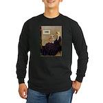 Mom's Welsh Corgi Long Sleeve Dark T-Shirt