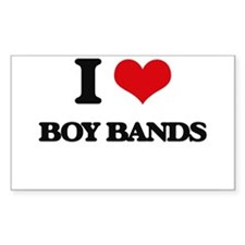 I Love BOY BANDS Decal
