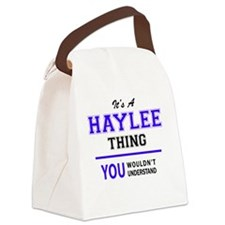 Cute Haylee Canvas Lunch Bag