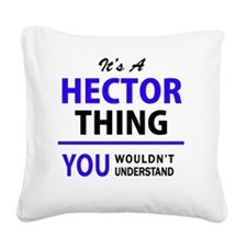 Cute Hector Square Canvas Pillow
