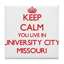 Keep calm you live in University City Tile Coaster