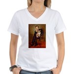 Lincoln's Corgi Women's V-Neck T-Shirt