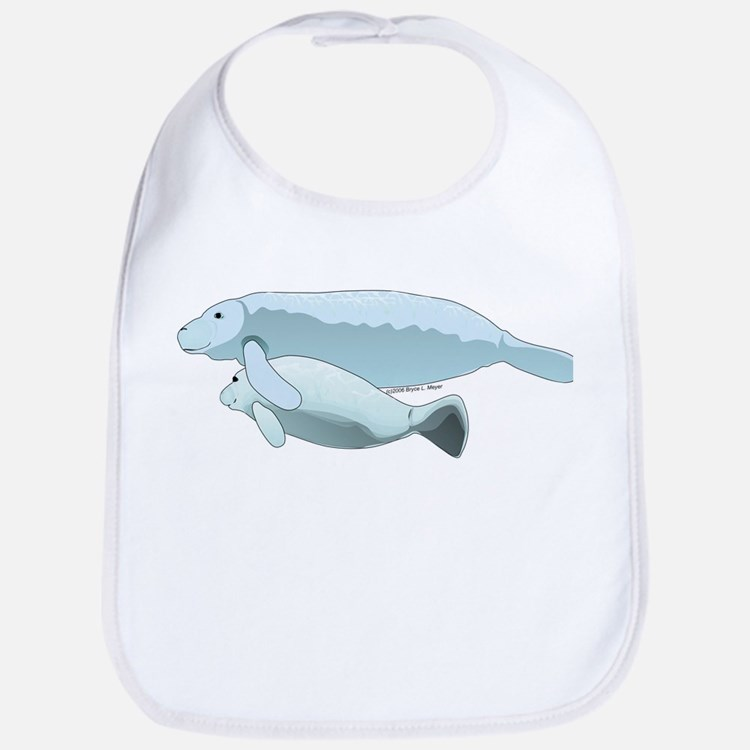 Mom and Baby Manatee Sea ct Baby Bib